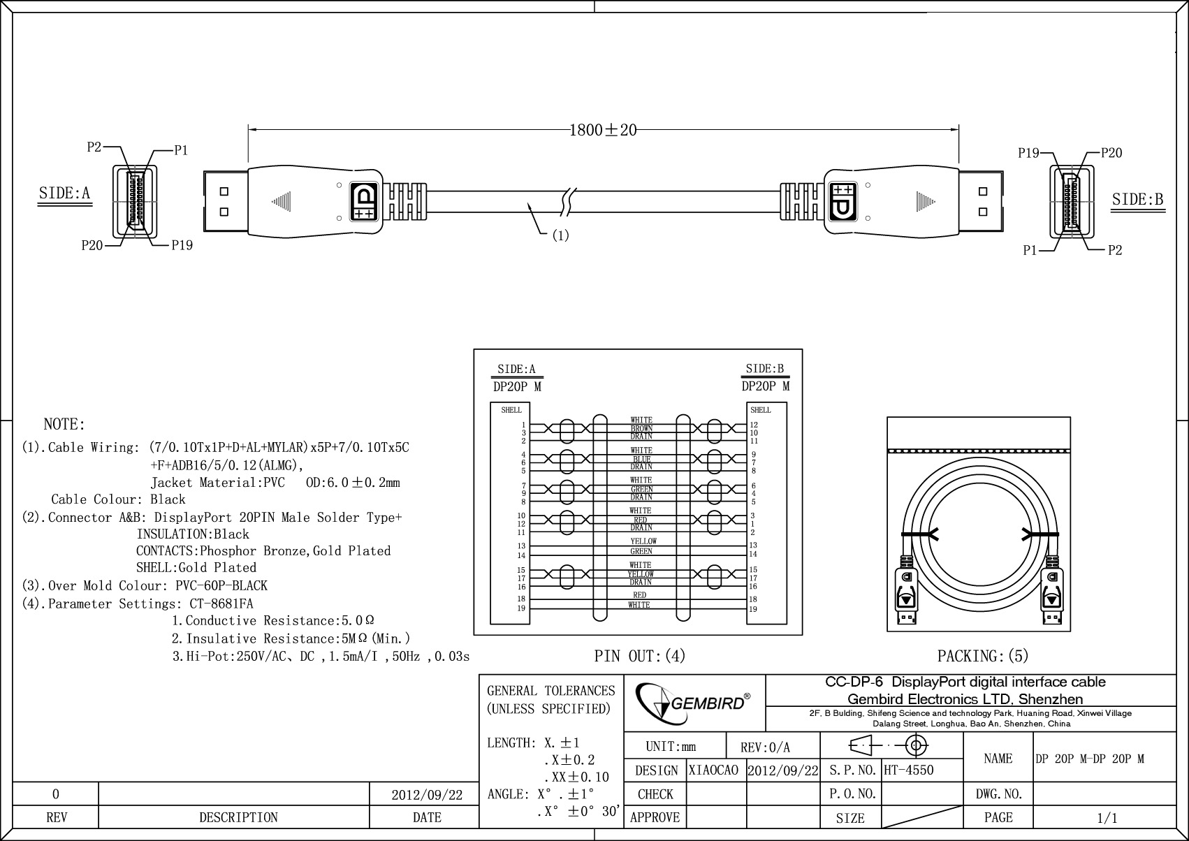 Displayport Digital Interface Cable 3 M Cc Dp 10