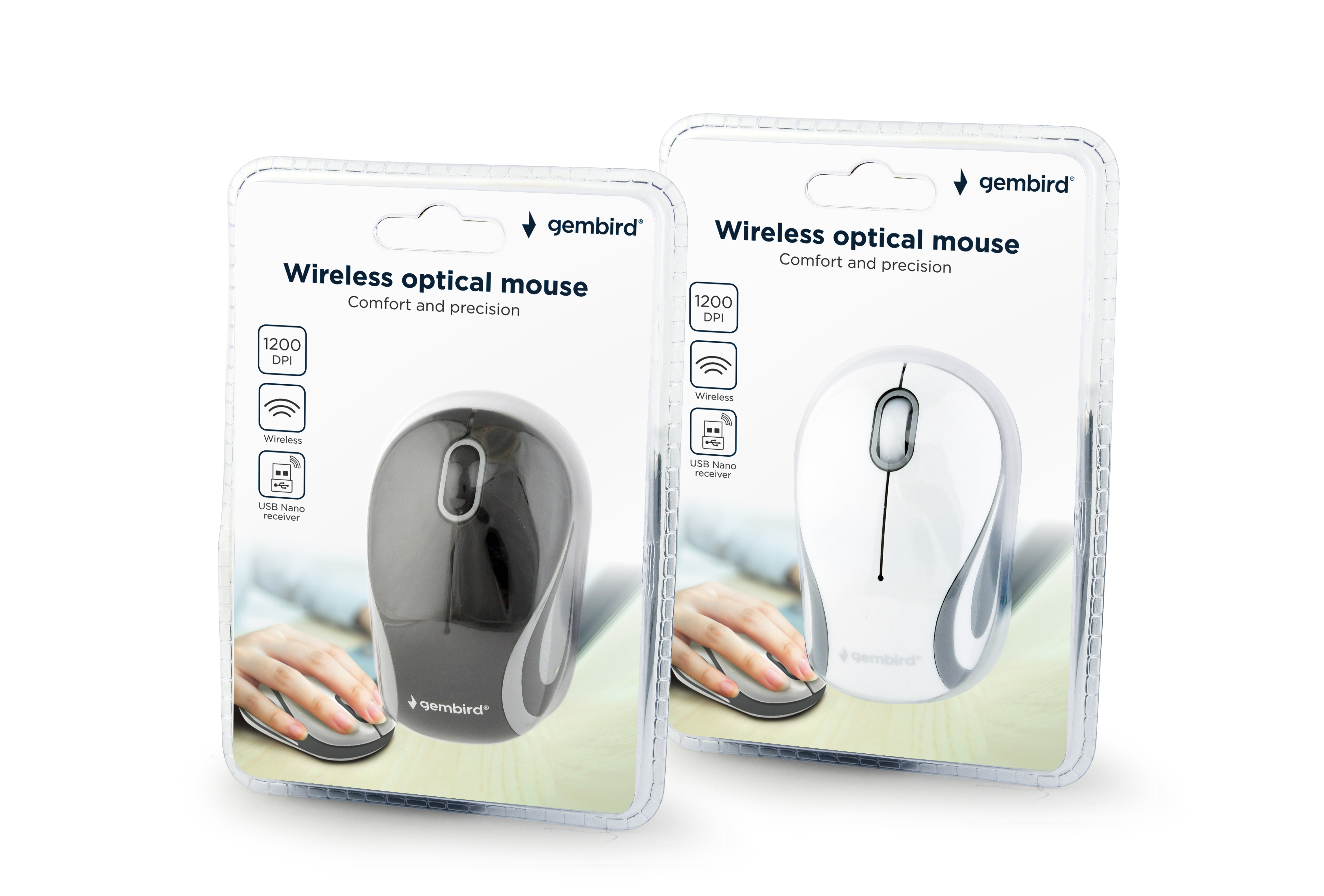 Wireless optical mouse, mixed colors (MUSW-3B-01-MX)