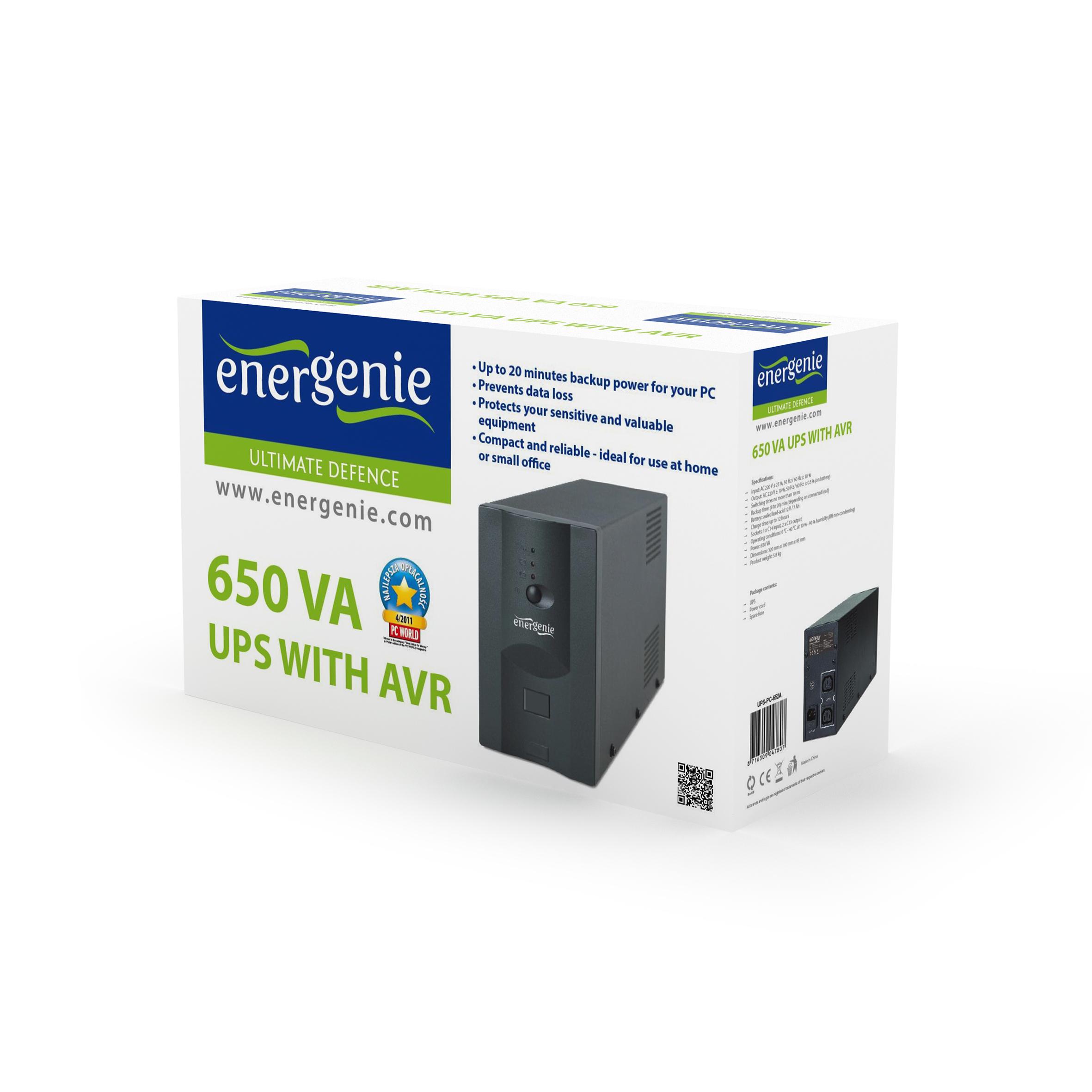 UPS with AVR, 650 VA (UPS-PC-652A)